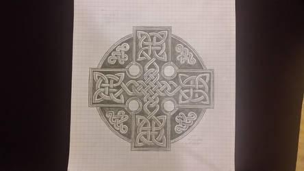 celtic cross Tattoo idea WIP by GabrielFuture