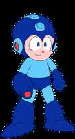 Megaman goes Pew! by Cuddlesnowy