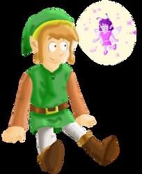 Link Meets a Fairy by Cuddlesnowy