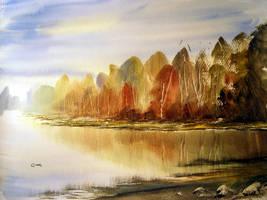 Silver Birch Trees by Micronin