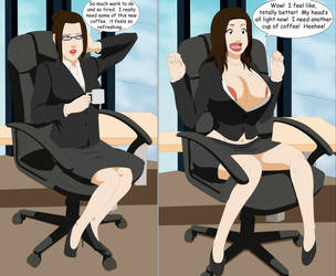 Commission: Office Bimbo by SuraKuraAnon