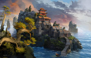 Dragon temple Concept 04 by samice