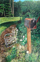 Lazy M Mailbox by quiltineb