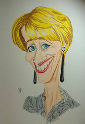 Emma Thompson Caricature by quiltineb