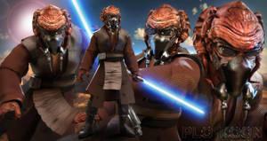 Star Wars PLO KOON by JArtistfact