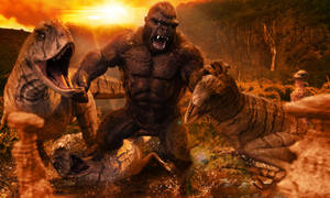 KING KONG Vs Raptors by JArtistfact