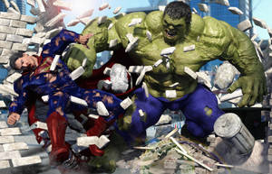 The HULK Vs. SUPERMAN by JArtistfact