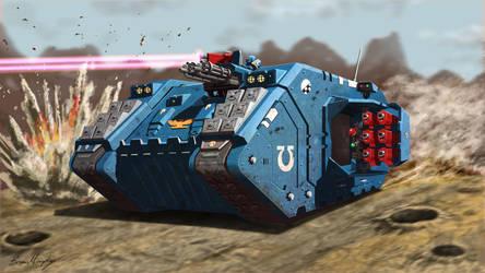 Warhammer 40k Land Raider by BrianJMurphy