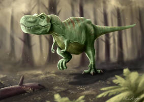 Jurassic Park Tyrannosaurus Rex by BrianJMurphy