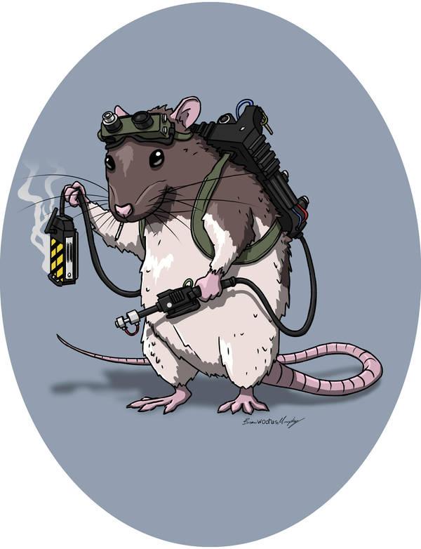 Ghostbuster Rat by BrianJMurphy