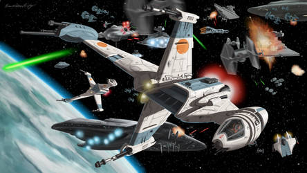 B-Wings At The Battle Of Endor by BrianJMurphy
