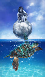 Turtle dreams by Cyfrolit