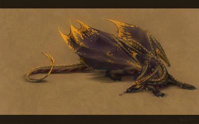 Goldenblack by birddragon