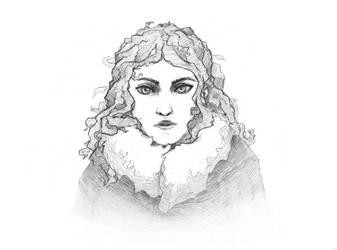 Woman in coat by birddragon