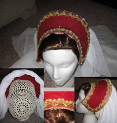 Elizabethan French Hood by MegamiJadeheart