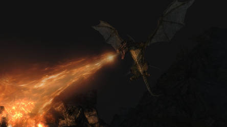 SSE Fighting a Dragon 1 by SkyrimMasterrace