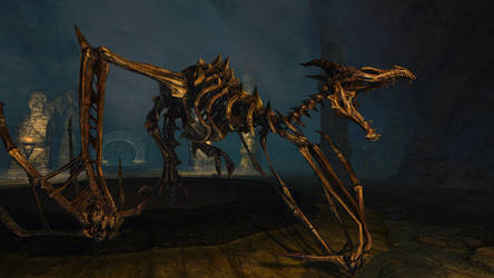 SSE Skeleton Dragon by SkyrimMasterrace