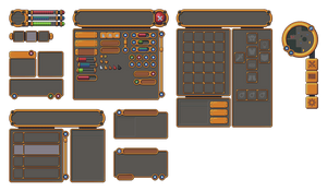 Pixel art RPG Golden UI by buch415