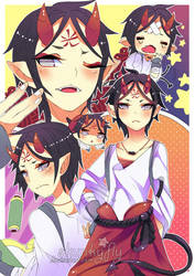 Oni-san sketch page o 3 o by Skunkyfly