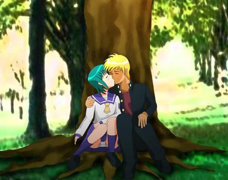 Midori and Seiji Kissing by OHerman