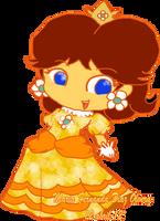Princesa Daisy chibitona by Vixi-PC