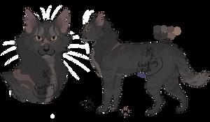 Cobrashadow (warrior cat oc) by CoughingFish
