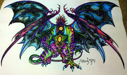 Cosmic Dragon by AstralMimi