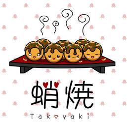 Kawaii Takoyaki by The-8th-Sin