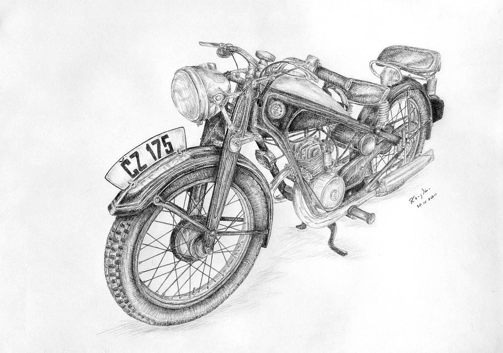 Cezeta - Motorcycle CZ 175 by czajka