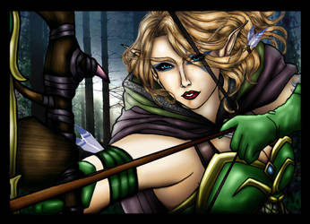 Windrunner Female Elf -WoW by RobertoBonelli
