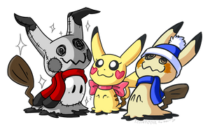 Mimikyu Family by TerraTerraCotta