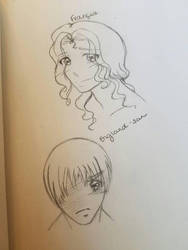 Recent sketches of France and England by TheRaven214