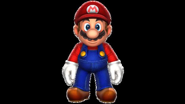 Mario Standing Render by HugoSanchez2000