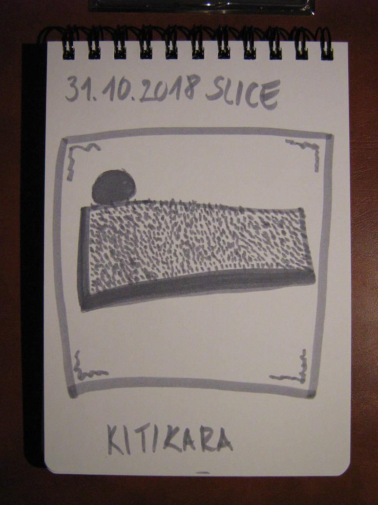 Slice of Rafaelo cheesecake by Kitikara