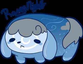 Rainy Night Inu-Roll DTA by Nawnii