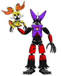 Sombra,Nightmare Blakzen, and Nightmare fenneki by hibridofazber