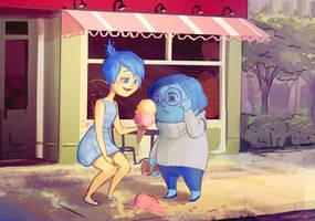 Joy x Sadness: icecream by catharticaagh