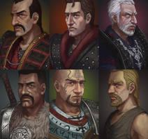 Gothic: portraits by DaedraDagon