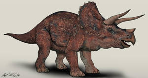 Jurassic Park Triceratops by NikoRex