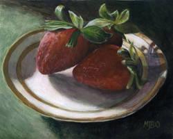 Strawberry Still Life by mbeckett