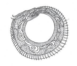 Ouroborous Dragon by lhiannan