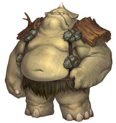 Character concept : Mountain Ogre by zerow0