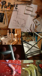 BJD wheelchair WIP: construction compilation 1 by PuppitProductions