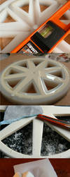 BJD wheelchair WIP: wheel casting compilation by PuppitProductions