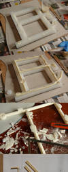 BJD wheelchair WIP: frame casting compilation by PuppitProductions