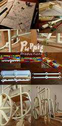 BJD wheelchair WIP: Crossbeam design compilation by PuppitProductions