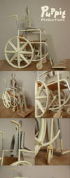 BJD wheelchair WIP: Test Assembly by PuppitProductions