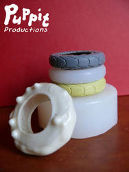 BJD wheelchair WIP: tire mould stack by PuppitProductions