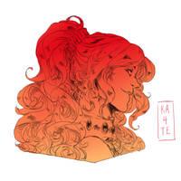 Comm - Red Diamond by kateheichou