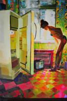 180 x 130 cm oil on canvas by ilkekutlay